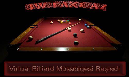 Virtual Billiard Müsabiqəsinin qalibi müəyyən oldu