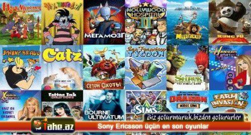 Sony Ericsson üçün ən son oyunlar