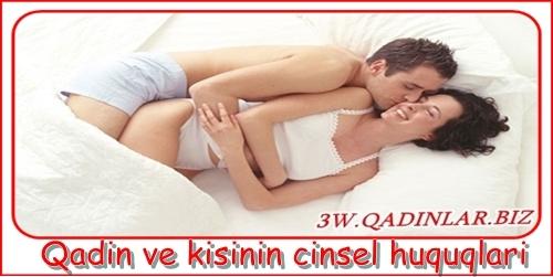 Qadin ve kisinin cinsel huquqlari