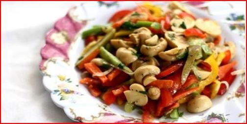 Göbələk salatı