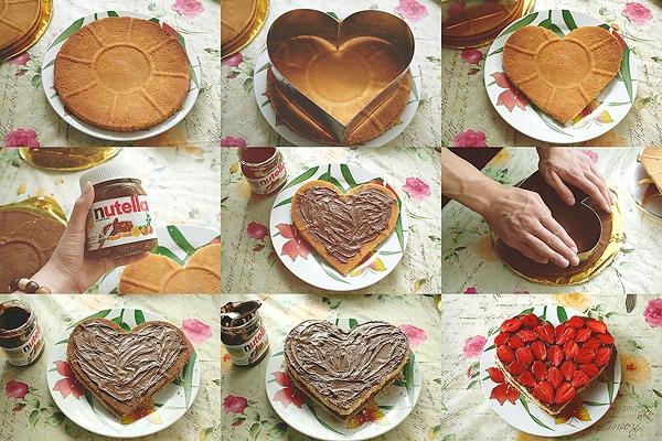Готовим торт с клубникой и нутеллой