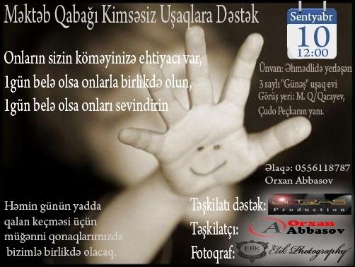 Kimsəsiz Uşaqlar üçün Xeyriyyə Konserti və Yardım