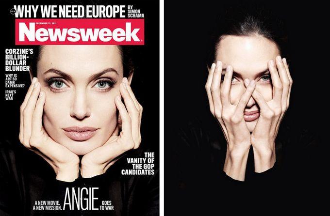 Angelina Jolie 'Newsweek Magazine' üçün....
