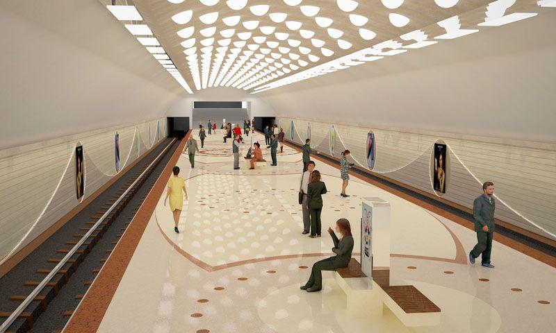 """Bakı metrosunun """"Avtovağzal"""" stansiyası necə olacaq? - FOTO"""
