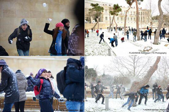 """""""Qar Döyüşü"""" - Bakıda növbəti Flashmob"""