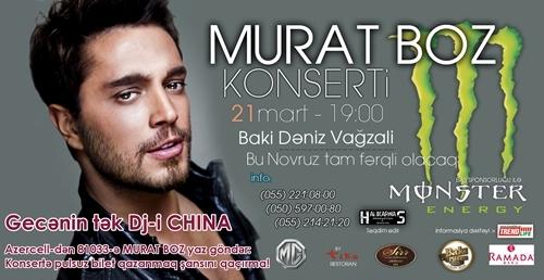 Murat Boz BAKIDA! (+DJ CHINA) 21 Mart Bakı Dəniz Vağzalı
