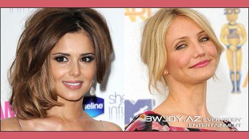 Cheryl Cole və Cameron Diaz`ın saç düzümləri