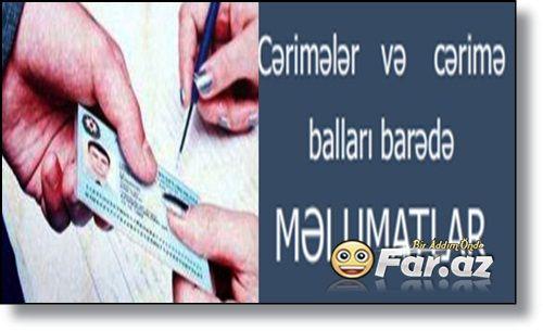 Cərimələr Və Cərimə Balları Barədə Məlumatları Online Olaraq Öyrən