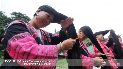 Huangluo - dünyanın ən uzunsaçlı kəndi