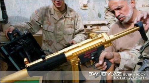 Səddamın qızıl silahları