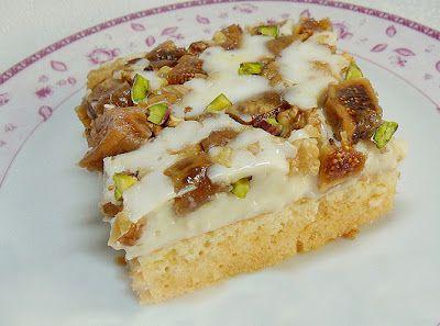 Quru əncirli karamelli tort