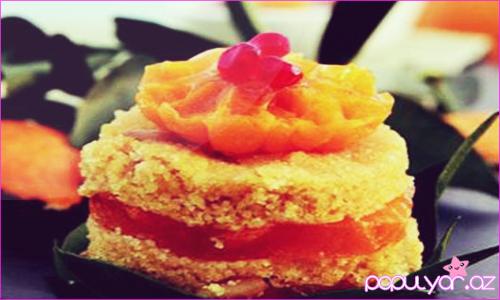 Mandarinli manna halvası