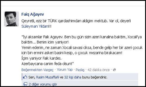 Faiq Ağayevin Türk Pərəstişkarı Xocalının İntiqamı Üçün And İçdi