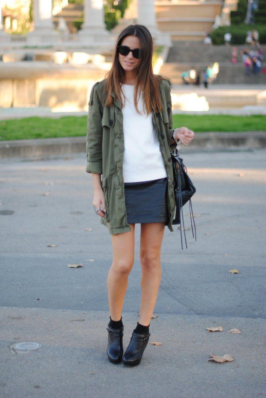 Green Utility Jacket Women