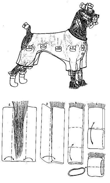Схема закручивания папильоток.