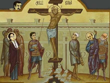 İsa Qəmbər çarmıxa çəkildi (FOTO)