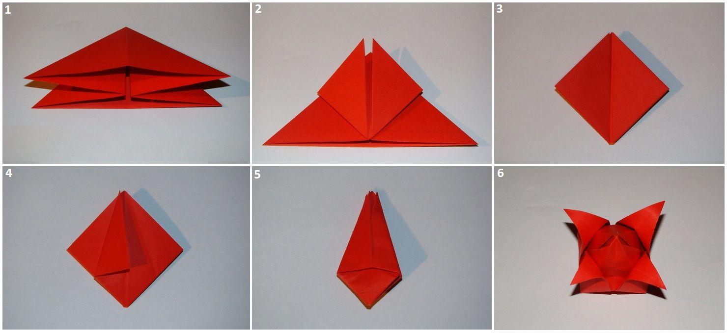 Цветы оригами своими руками фото пошаговое
