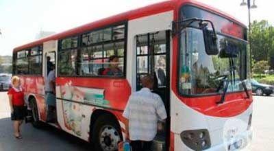 Bakıda avtobus sürücülərin kələyi (FOTO)