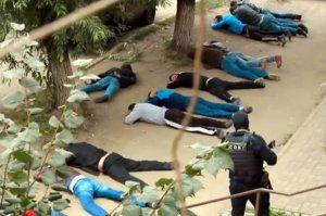 """""""Sxodka""""ya polis basqını: 1 avtoritet ölüb, 20 nəfər saxlanılıb – (Video)"""