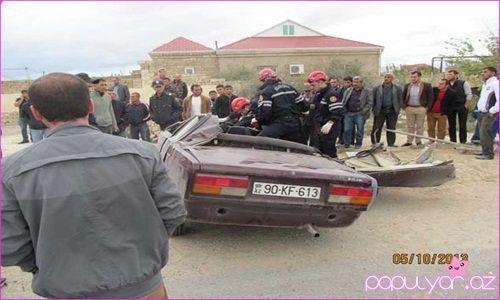 """Bakıda """"07"""" dəhşətli qəzaya uğradı – Foto"""
