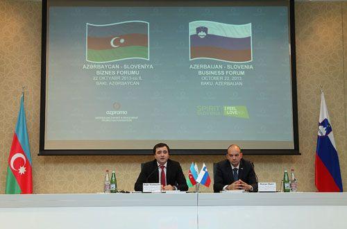 Azərbaycan-Sloveniya biznes forumu keçirilib