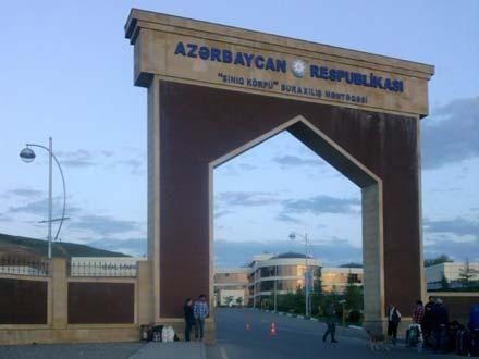 """Azərbaycan - Gürcüstan sərhəddindəki """"Sınıq körpü""""də ETİRAZ AKSİYASI"""