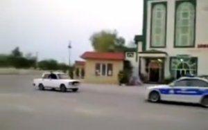 """DYP sürücüyə: """"Qaçma, dayan, a avtoş..."""" - (Video)"""