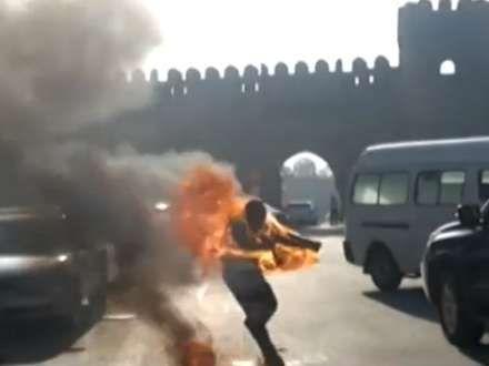 Özünü yandıran Qarabağ qazisi öldü