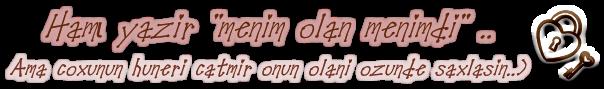 Qızlar ardında sürprizim varii sizə =))