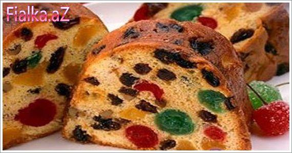 Quru meyvəli keks resepti