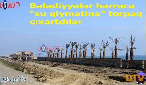 """Bələdiyyələr hərraca """"su qiymətinə"""" torpaq çıxartdılar"""