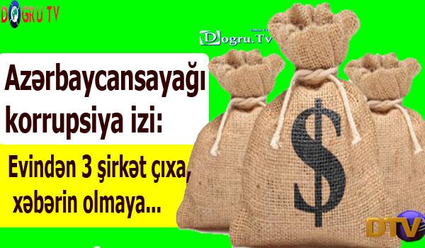 Azərbaycansayağı korrupsiya izi: Evindən 3 şirkət çıxa, xəbərin olmaya...