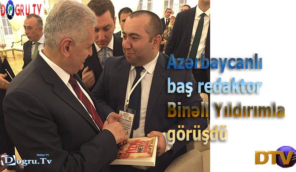 Azərbaycanlı baş redaktor Binəli Yıldırımla görüşdü - Fotolar