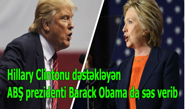 Hillary Clintonu dəstəkləyən ABŞ prezidenti Barack Obama da səs verib.
