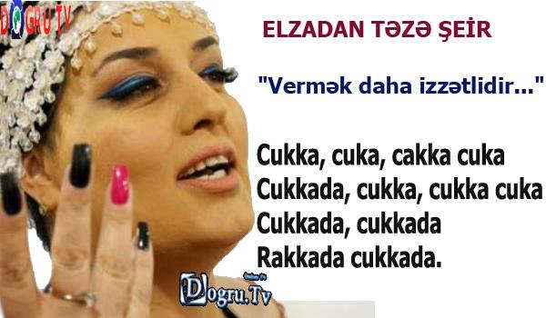 """""""Vermək daha izzətlidir..."""" - ELZADAN TƏZƏ ŞEİR"""