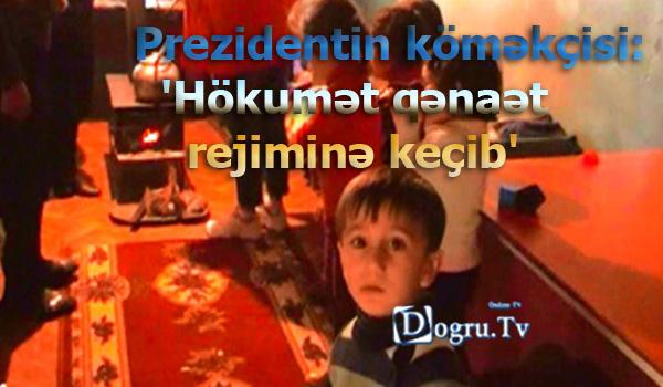 Prezidentin köməkçisi: 'Hökumət qənaət rejiminə keçib'