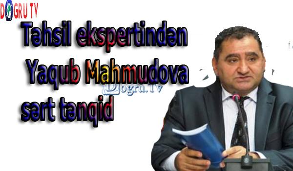 Təhsil ekspertindən Yaqub Mahmudova sərt tənqid