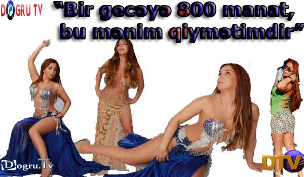 """""""Bir gecəyə 800 manat, bu mənim qiymətimdir"""""""