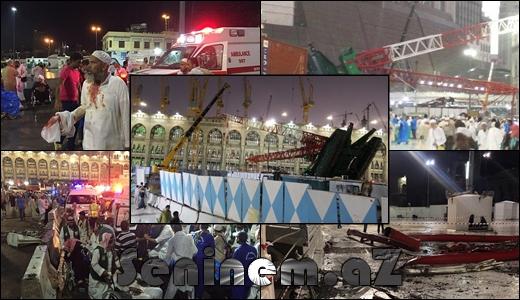 Məkkədə faciə: 107 ölü, 238 yaralı - VİDEO - FOTO