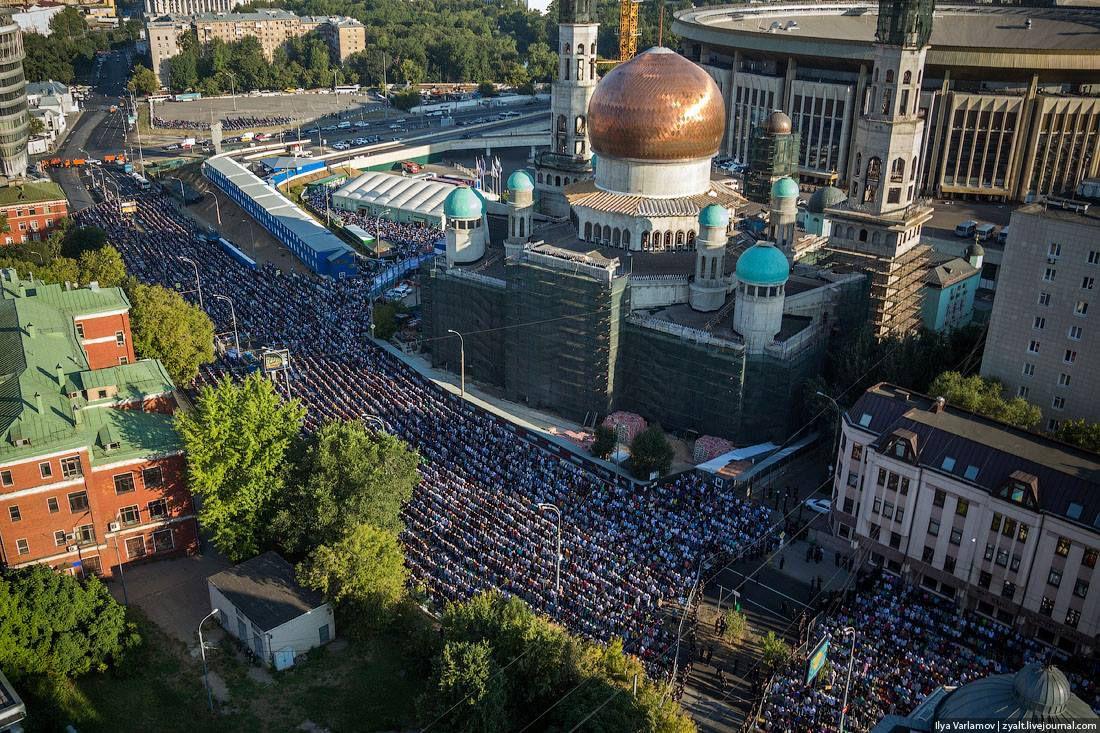 Azeri Sahar Tv | Праздник Ураза-байрам в Москве 2014 |