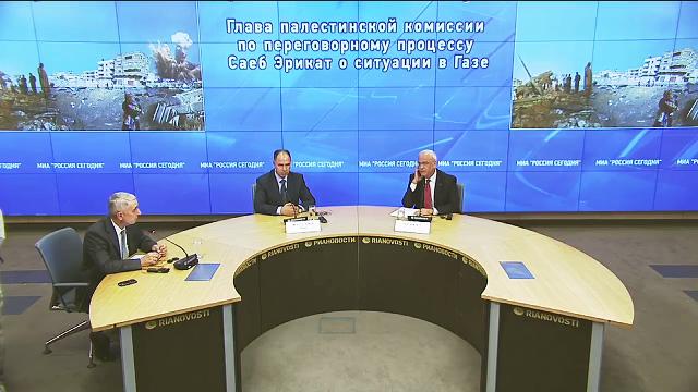 Azeri Sahar Tv   Глава палестинской комиссии по переговорному процессу Саеб Эрикат о ситуации в Газе  