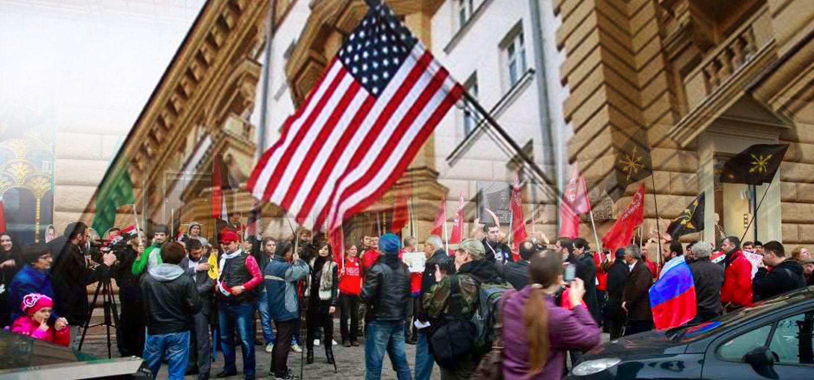 Azeri Sahar Tv | Совместная акция AGMR и UNAC у посольства США |