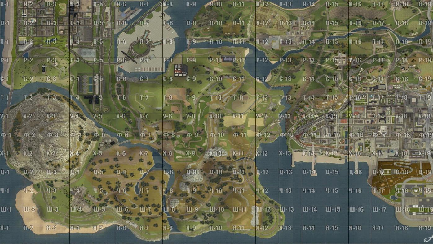 Как сделать квадраты на карте в самп