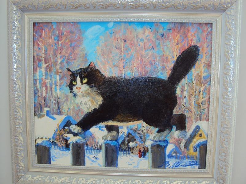 Черные коты на картинах