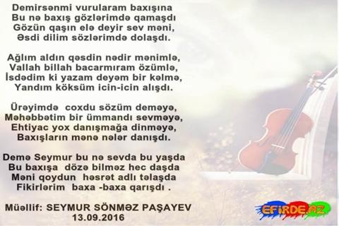 Baxışların mənə nələr danışdı.