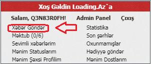 Loading.az xəbər göndərmək qaydası [dərslik şəkil ilə izahı]