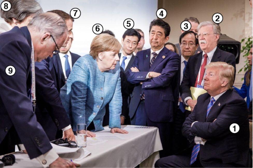 G7 sammitində çəkilmiş fotoda kim kimdir?