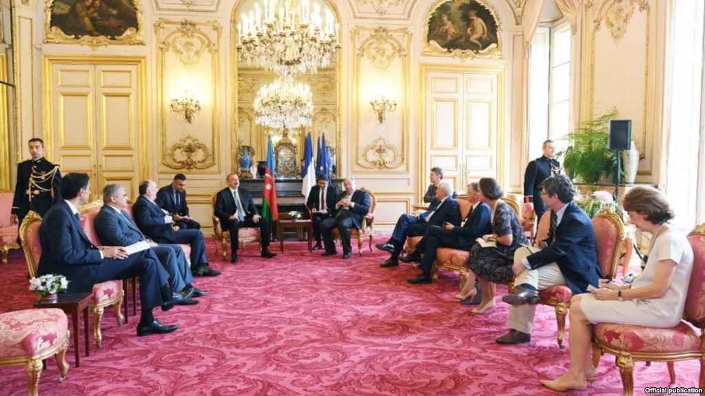 Azərbaycan prezidenti Fransada səfərdədir