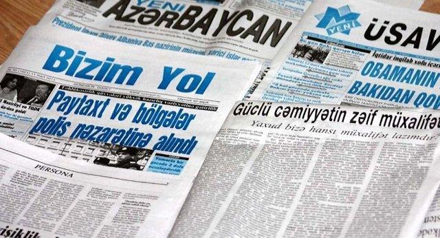 26 gündəlik qəzetə 998 min manat verildi - SİYAHI