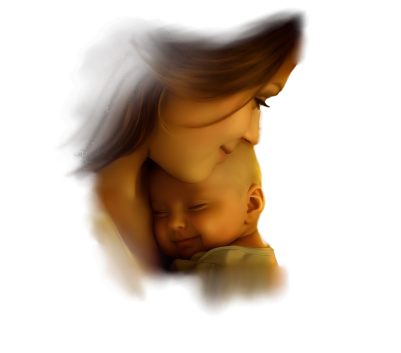 Картинка анимация мама и дети, открытка день